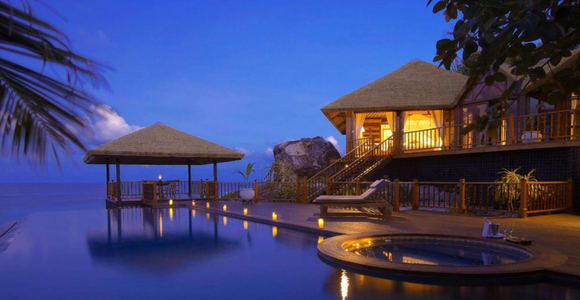Seychelles honeymoon at Fregate Private Island