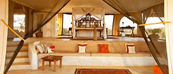 Tented suite at Sasaab