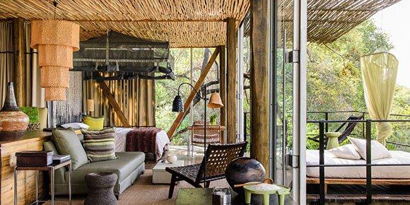 Luxury suites at Singita Sweni lodge