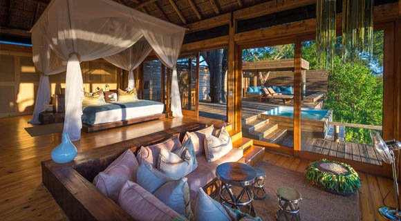 Vumbura Plains Lodge in the Okavango Delta
