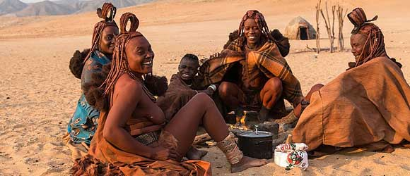 Himba people in Namibia