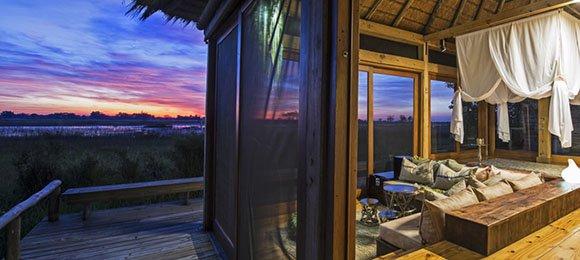 View from Vumbura Plains in the Okavango