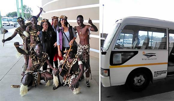 Arriving in Victoria Falls, Zimbabwe