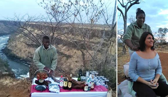 Sunset drinks at The Elephant Camp