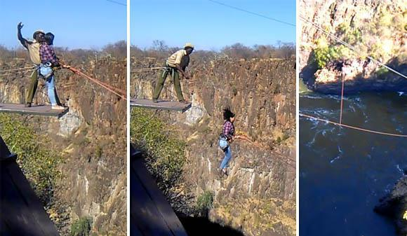 Gorge swing at Victoria Falls