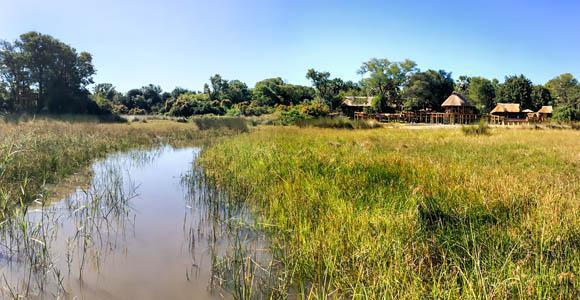 Approaching Camp Okavango