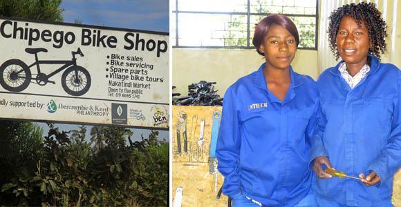 Chipego Bike Shop in Nakatindi Village