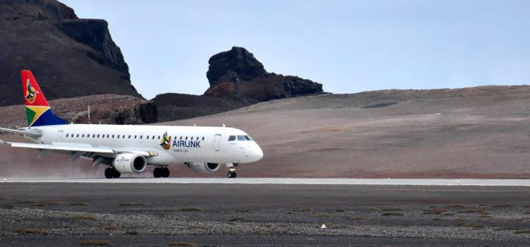 Touch Down on St Helena Island