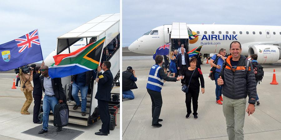 First commercial flight to land of St Helena