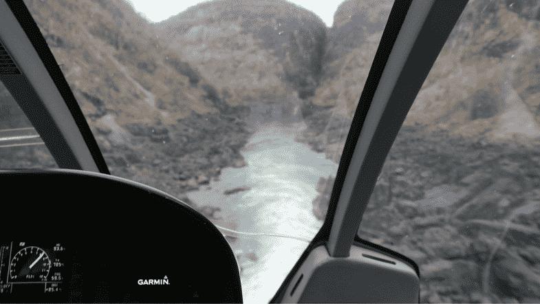 Helicopter Zimbabwe Falls