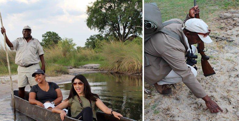 Mokoro and walking safari at Xugana