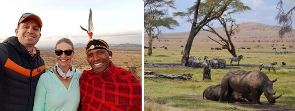 Game viewing in Lewa