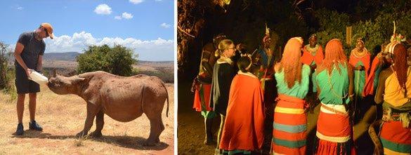 Rhino conservation & boma dinner at Ol Jogi