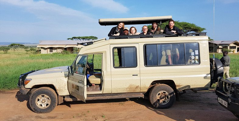 Setting off on a Serengeti game drive