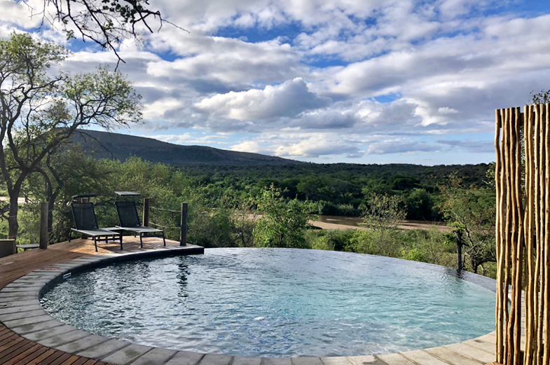 Swimming pool at Mthembu Lodge