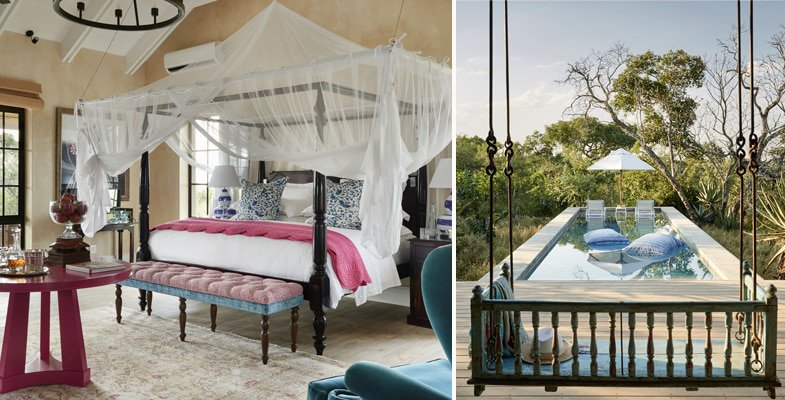 Luxury Farm Suite and The Farmhouse pool at Royal Malewane