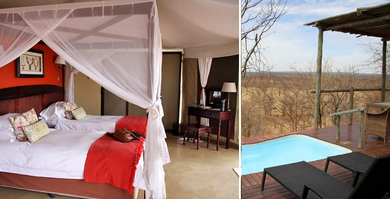 Tented suite at The Elephant Camp