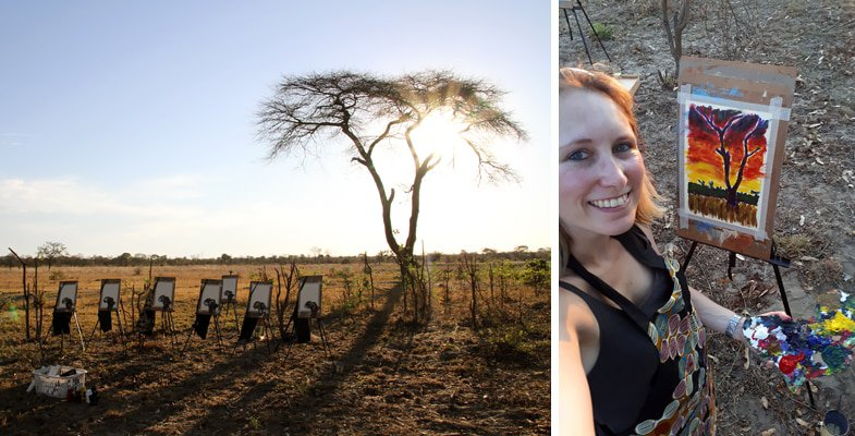 """Picasso in the bush"" experience at Elephant's Eye Hwange"