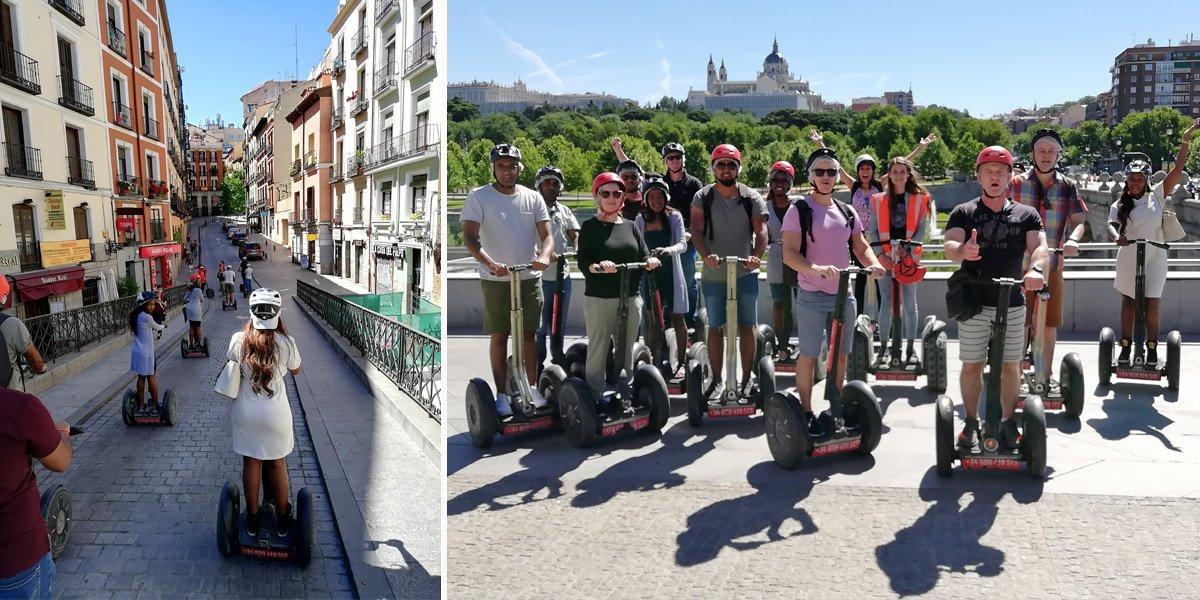 Segway tour around Madrid