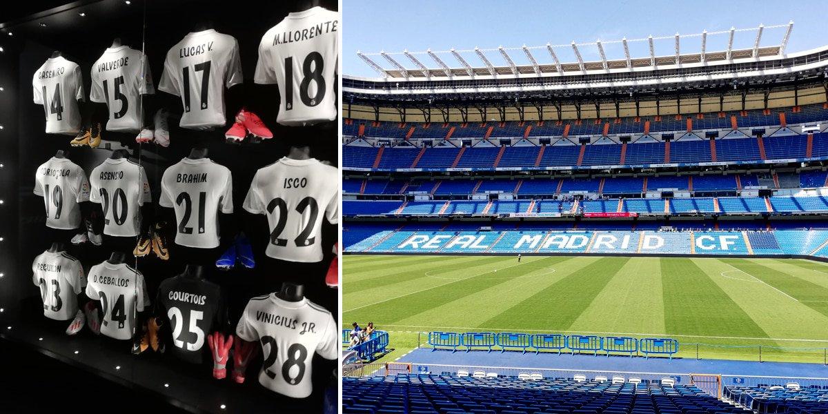Tour of the Real Madrid Santiago Bernabeu Stadium