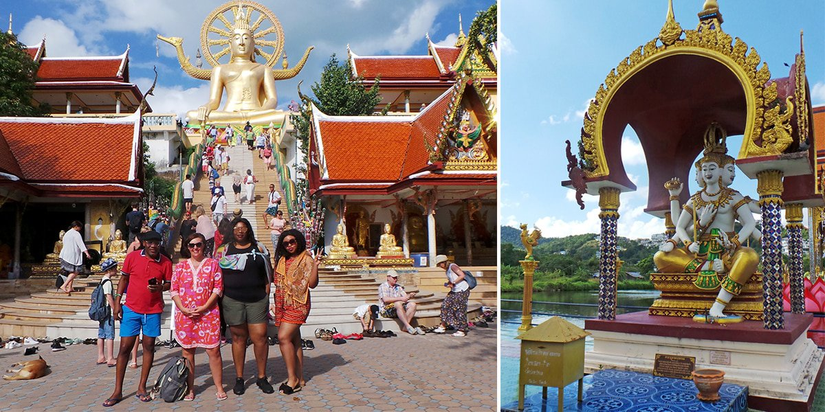 Big Buddha Temple and Wat Plai Laem