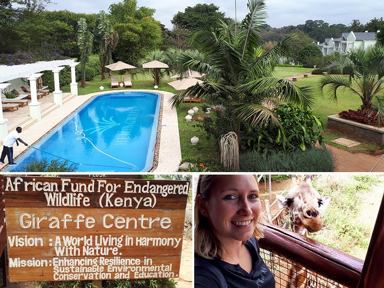 Hemingways & the Giraffe Centre in Nairobi, Kenya