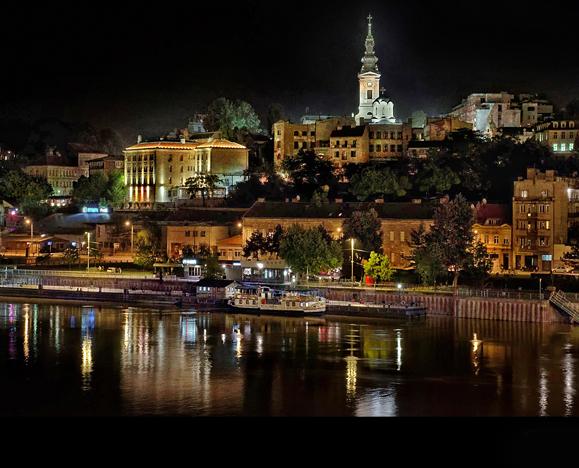 Visit Serbia Belgrade at night